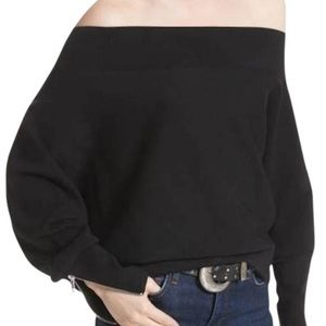 Black free people sweater with zippers